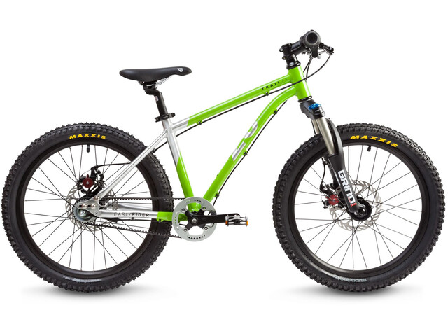"""Early Rider Hellion Trail MTB Hardtail 20"""" Kids, brushed aluminum/lime"""